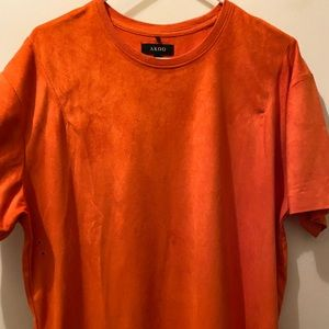 Orange suede AKOO shirt